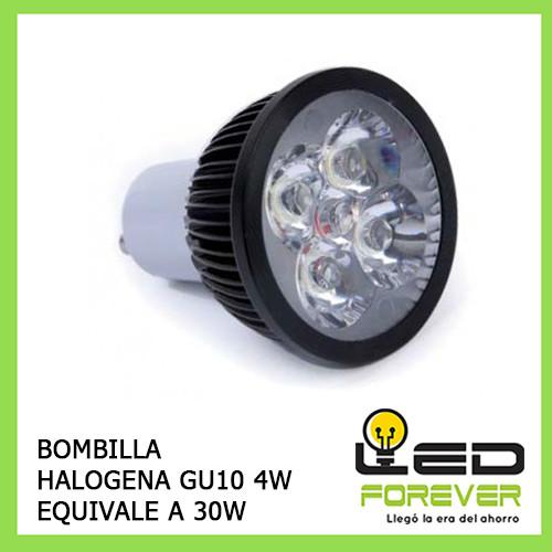 Bombilla led gu10 halogena 4w black edition - Bombillas halogenas led ...